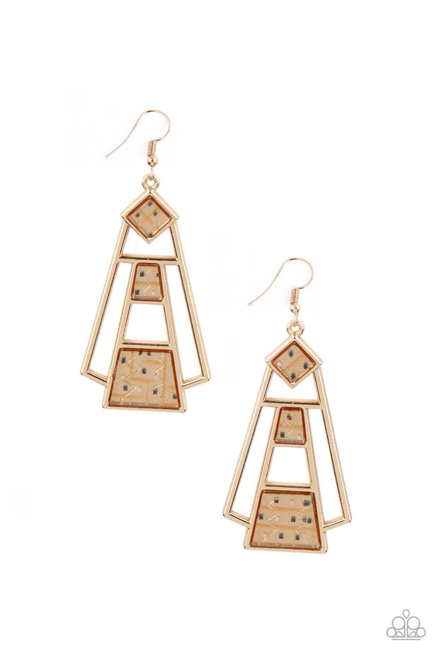 Retro Minimalist - Gold Earrings