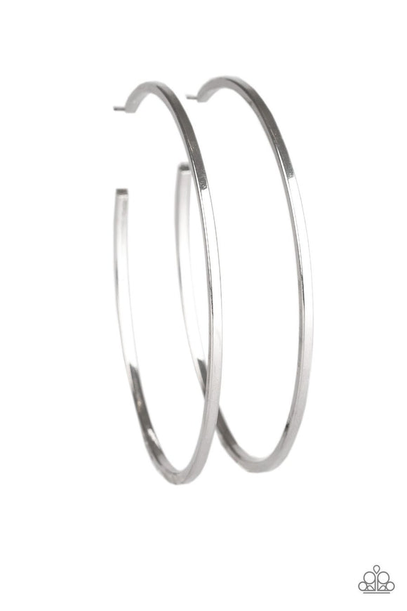 Paparazzi Perfect Shine - Silver - Large Hoop Earrings