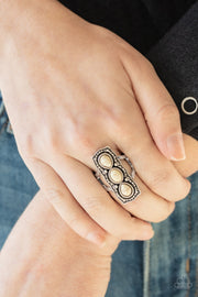 Paparazzi Desert Destiny - White Ring - Glitzygals5dollarbling Paparazzi Boutique
