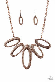 Paparazzi Easy, TIGRESS Copper Necklace - Glitzygals5dollarbling Paparazzi Boutique