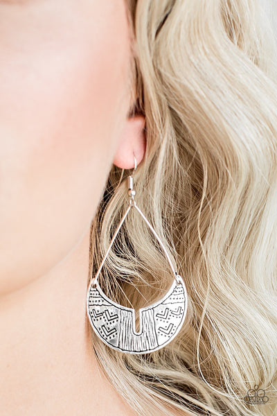 Paparazzi Trading Post Trending - Silver Earrings