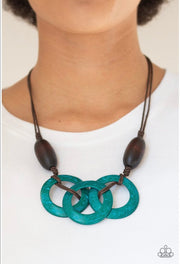 "Paparazzi ""Bahama Dream"" Blue Teal Necklace - Glitzygals5dollarbling Paparazzi Boutique"