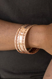 "Paparazzi ""Basic Blend"" Rose Gold Bracelets - Glitzygals5dollarbling Paparazzi Boutique"