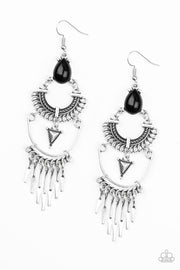 Progressively Pioneer Earring Black - Glitzygals5dollarbling Paparazzi Boutique