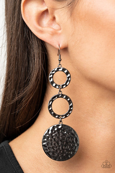 Blooming Baubles - black - Paparazzi earrings - Glitzygals5dollarbling Paparazzi Boutique