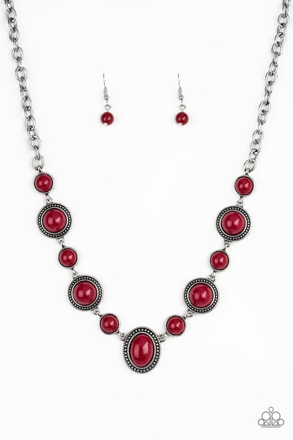 Paparazzi Voyager Vibes Red Necklace