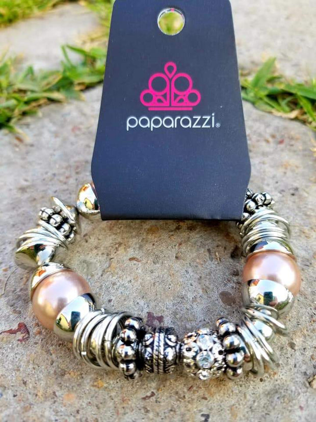 Paparazzi Uptown Tease Brown Bracelet Exclusive