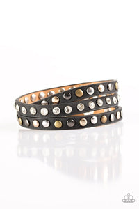 Paparazzi Let's Go For A CATWALK Black Urban Bracelet