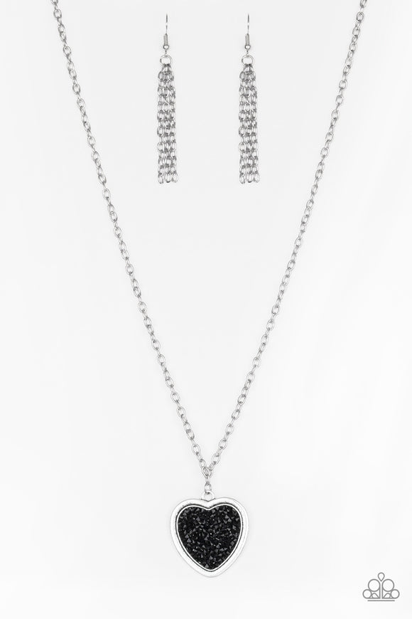 Paparazzi Heart of Sparkle Black Necklace