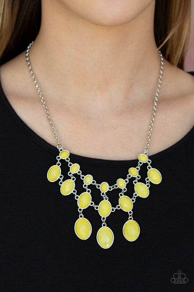 Mermaid Marmalade - yellow - Paparazzi necklace - Glitzygals5dollarbling Paparazzi Boutique