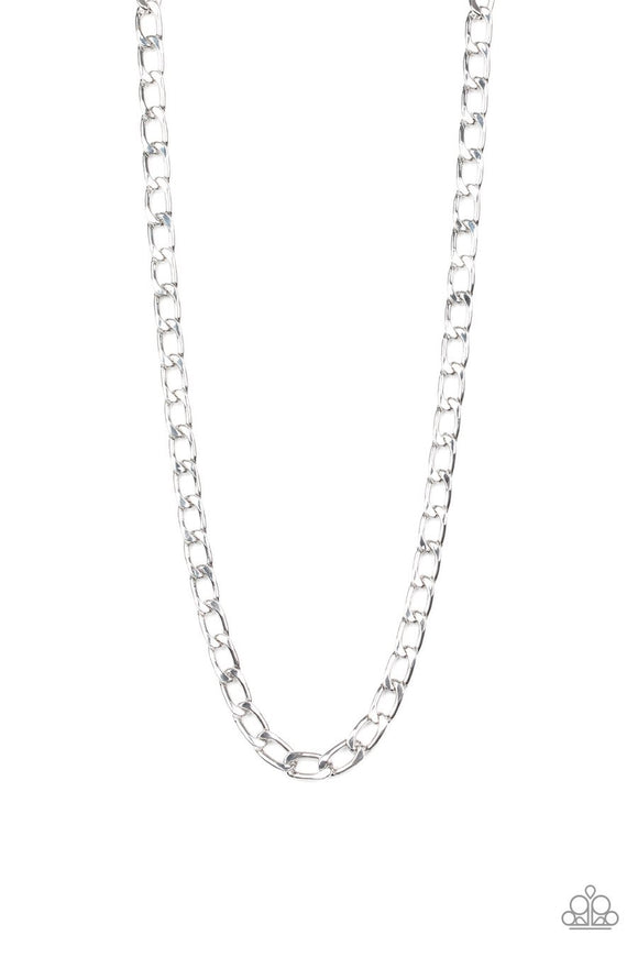 Paparazzi Big Win - Silver - Thick Cable Chain - Men's Necklace