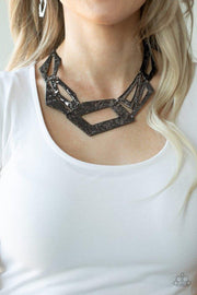 Paparazzi Necklace ~ Break The Mold - Black - Glitzygals5dollarbling Paparazzi Boutique