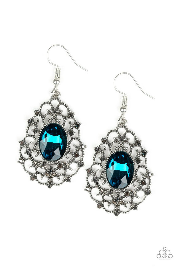 Paparazzi Regal Razzle Blue Earring