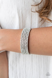 The GLOW-Digger - White Life of the Party Exclusive Bracelet Paparazzi - Glitzygals5dollarbling Paparazzi Boutique