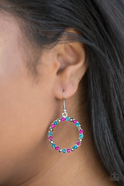 Paparazzi Bubblicious Multi Pink Blue Hematite Earrings - Glitzygals5dollarbling Paparazzi Boutique