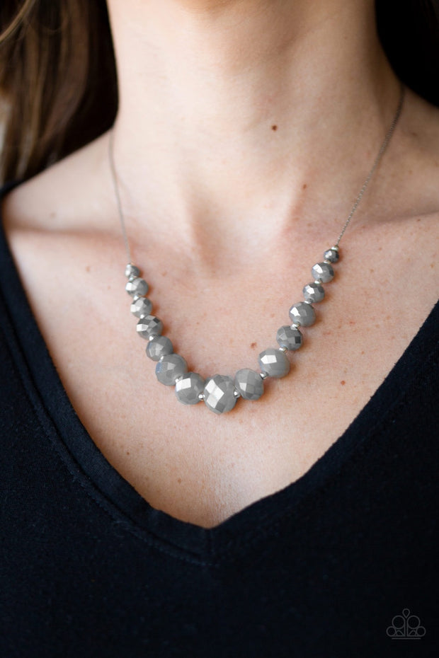 Paparazzi Crystal Carriages Silver Beaded Necklace - Glitzygals5dollarbling Paparazzi Boutique