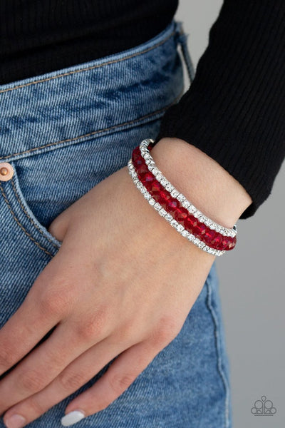 GLAM-ified Fashion - red - Paparazzi bracelet - Glitzygals5dollarbling Paparazzi Boutique