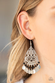 Paparazzi Mermaid Mojito Black Earrings
