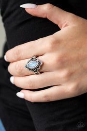 Glass Half COLORFUL - blue - Paparazzi ring