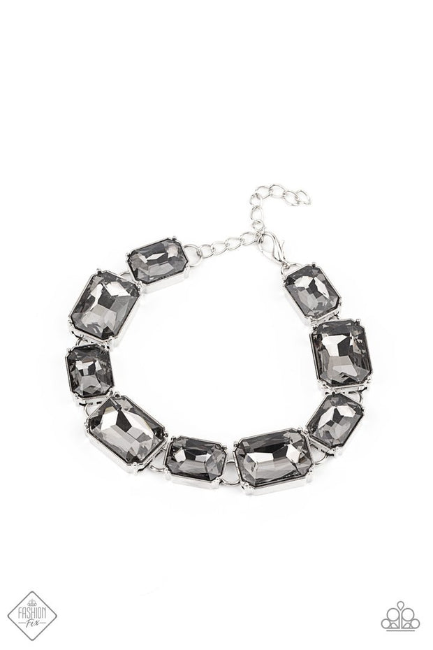 Paparazzi Bracelet Fashion Fix Jan 2021 ~ After Hours - Silver - Glitzygals5dollarbling Paparazzi Boutique