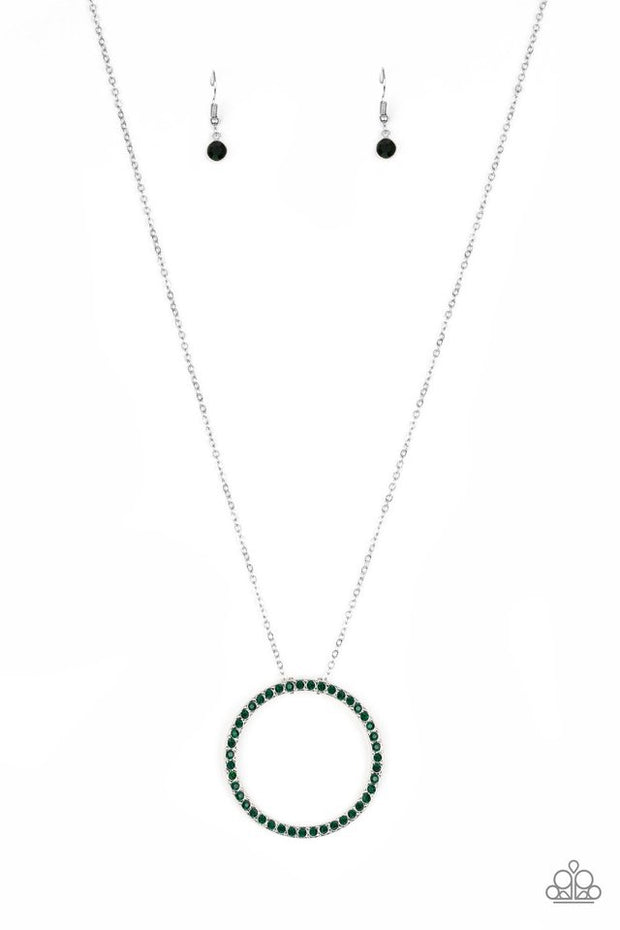 Paparazzi Center of Attention Green Necklace - Glitzygals5dollarbling Paparazzi Boutique