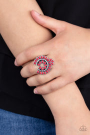 Trendy Talisman - red - Paparazzi ring