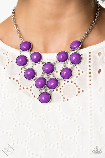 "Paparazzi ""Pop-YOU-lar Demand"" Purple Necklace - Glitzygals5dollarbling Paparazzi Boutique"