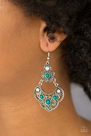 Paparazzi Garden State Glow - Green Earrings - Glitzygals5dollarbling Paparazzi Boutique