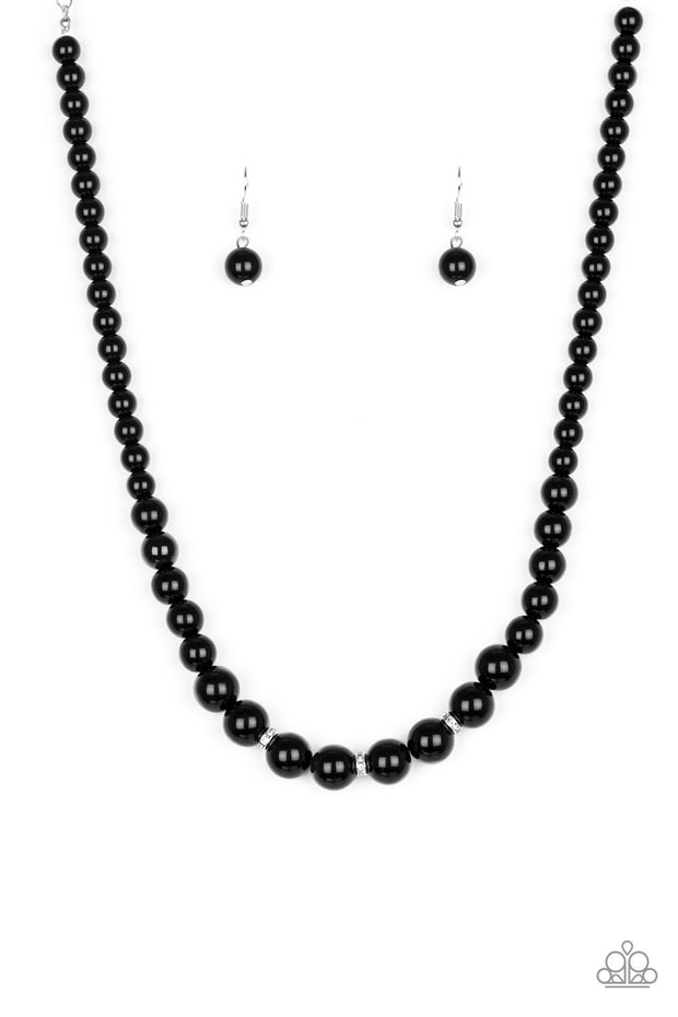 Royal Romance Black Necklace - Glitzygals5dollarbling Paparazzi Boutique