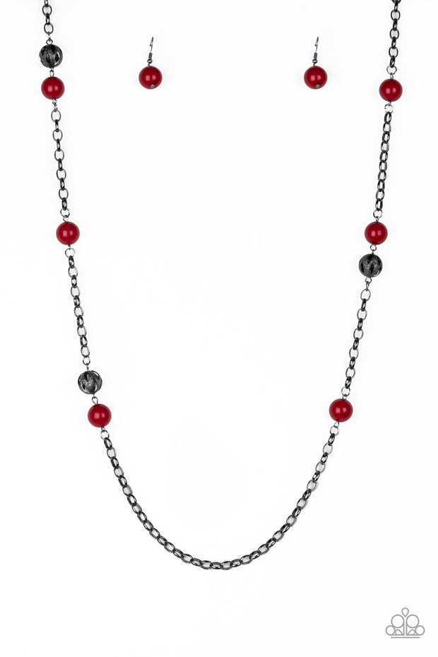 Paparazzi Fashion Fad Red Necklace - Glitzygals5dollarbling Paparazzi Boutique