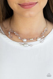 Pacific Pageantry - silver - Paparazzi necklace