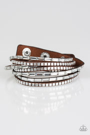 Paparazzi This Time with Attitude Brown Bracelet - Glitzygals5dollarbling Paparazzi Boutique