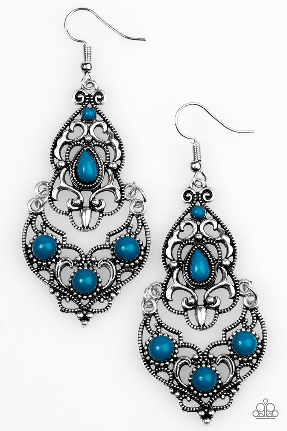 Paparazzi Jungle Runway Blue Earrings