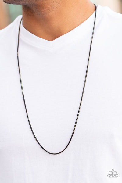 Paparazzi Mixed Mayhem gold black necklace mens unisex - Glitzygals5dollarbling Paparazzi Boutique