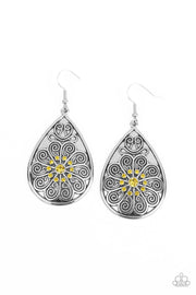 Banquet Bling - yellow - Paparazzi earrings
