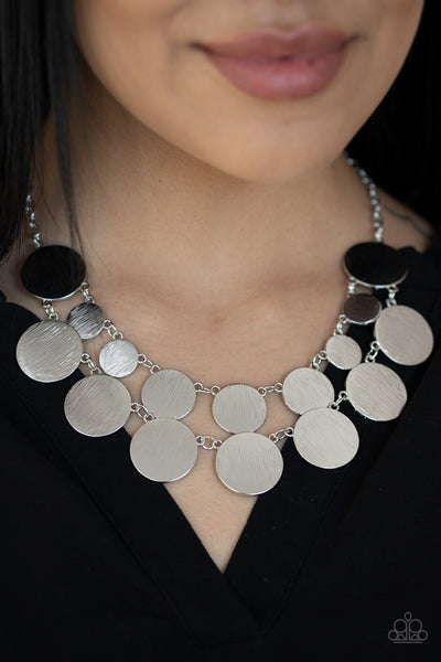PREORDER Paparazzi Stop and Reflect - Silver Necklace - Glitzygals5dollarbling Paparazzi Boutique