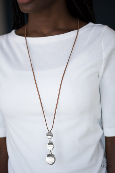 Paparazzi Embrace The Journey - Brown Necklace - Glitzygals5dollarbling Paparazzi Boutique