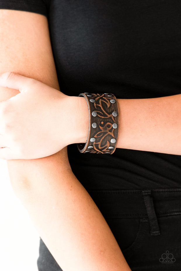 Paparazzi Nature Guide Brown Urban Bracelet - Glitzygals5dollarbling Paparazzi Boutique