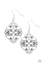 Paparazzi Garden Mandala Silver Earrings - Glitzygals5dollarbling Paparazzi Boutique