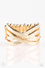 Final Statement – Paparazzi Accessories Gold Ring Exclusive - Glitzygals5dollarbling Paparazzi Boutique