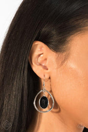 Paparazzi Make NOIR Mistake Black Earrings Fashion Fix Exclusive - Glitzygals5dollarbling Paparazzi Boutique