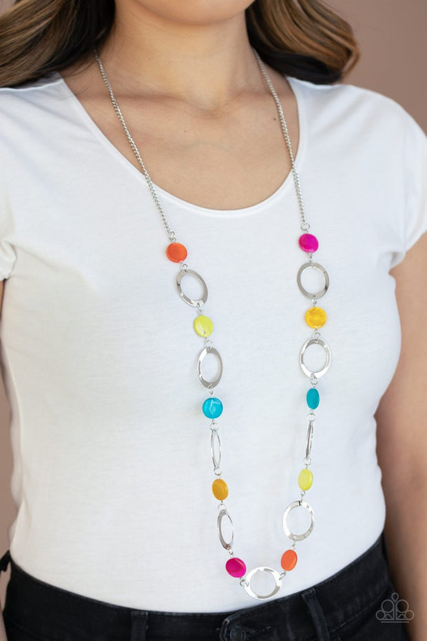 Paparazzi SHELL Your Soul - Multi - Shell Beads - Necklace & Earrings