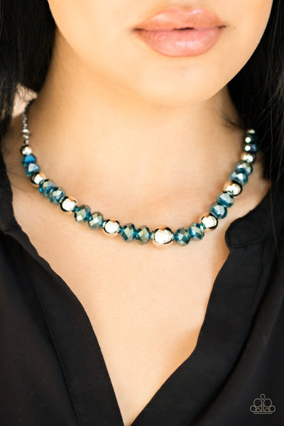 Paparazzi Jewel Jam - Blue Oil Spill Necklace - Glitzygals5dollarbling Paparazzi Boutique