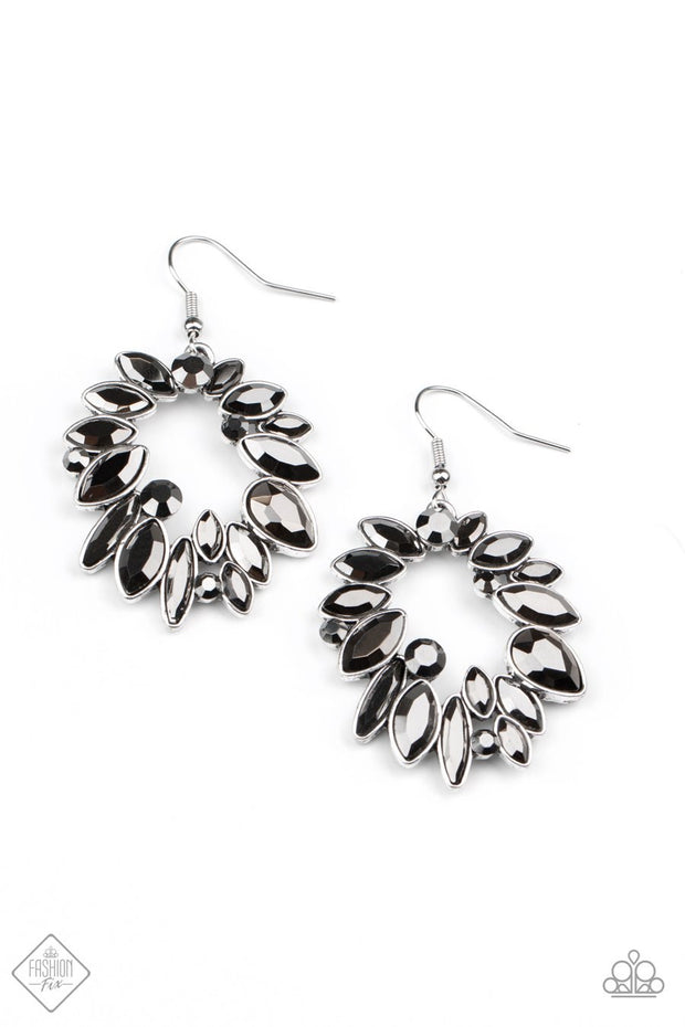 Try As I DYNAMITE - silver - Paparazzi earrings