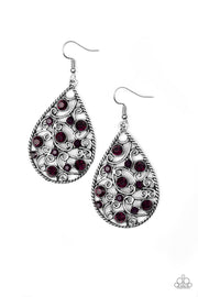 Paparazzi Certainly Courtier Purple Earrings - Glitzygals5dollarbling Paparazzi Boutique