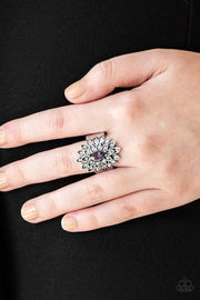 Paparazzi Blooming Fireworks Purple Ring - Glitzygals5dollarbling Paparazzi Boutique