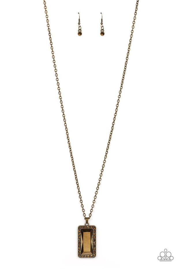 Paparazzi Bada BLING Bada Boom - Brass Necklace - Glitzygals5dollarbling Paparazzi Boutique