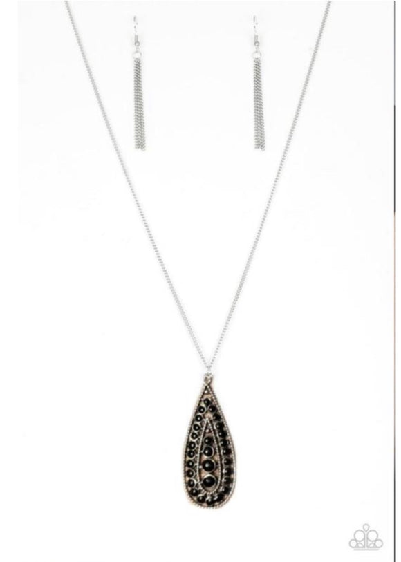 Paparazzi Tiki Tease Black Necklace Exclusive