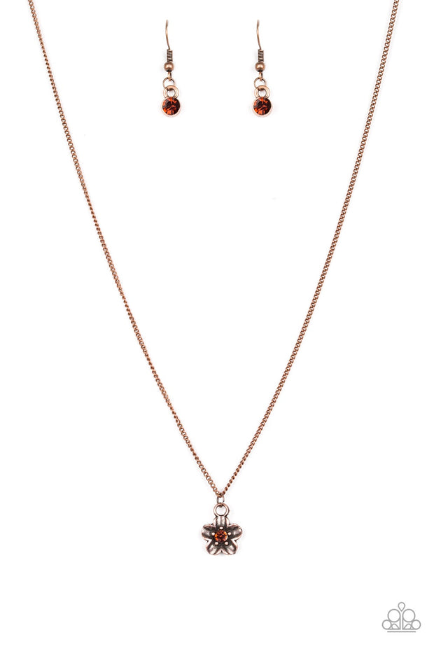 Boho Botanical Copper Paparazzi Necklace - Glitzygals5dollarbling Paparazzi Boutique