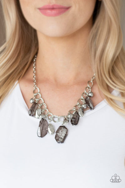 Chroma Drama - black - Paparazzi necklace - Glitzygals5dollarbling Paparazzi Boutique